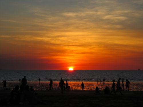 オーストラリアのダーウィンの夕日