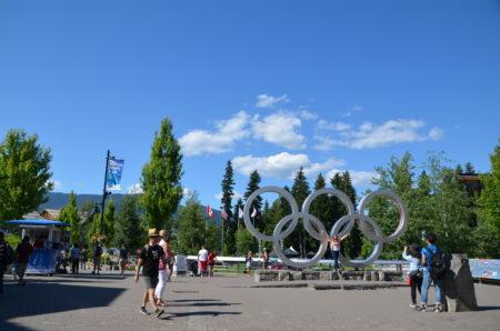 ウィスラーの広場の風景
