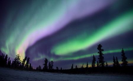 カナダ,ホワイトホース,オーロラ,自力で見る